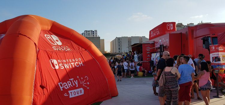 Gran éxito en Vinaròs de la Nintendo Switch Party Tour