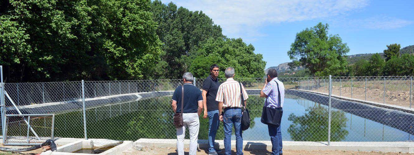 Nou dipòsit d'aigua per a explotacions agropecuàries morellanes
