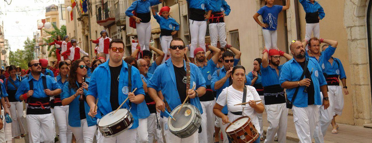 Exhibició castellera a Ulldecona