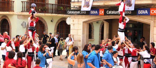La Muixeranga de Vinaròs en les Festes Majors d'Ulldecona