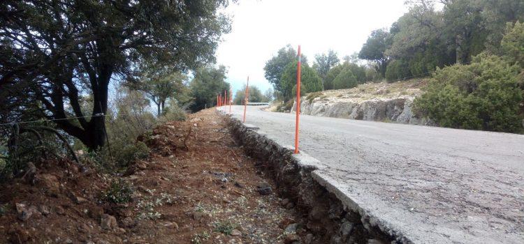 La Diputación acomete el pésimo estado de la carretera de Vallibona
