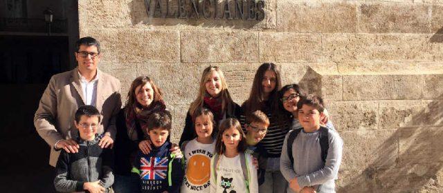El Consell de la Infància de Morella visita les Corts Valencianes