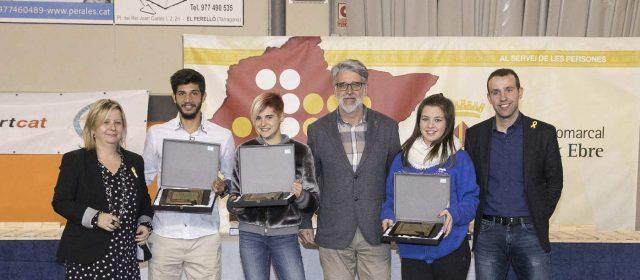 El remer Xavi Vela, l'atleta Laia Monforte i la patinadora Dana Gil, millors esportistes del Baix Ebre