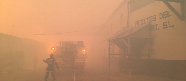 Tres bomberos heridos en el incendio de Culla