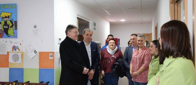 Puig visita el centro de desarrollo infantil Creixem, de Vinaròs