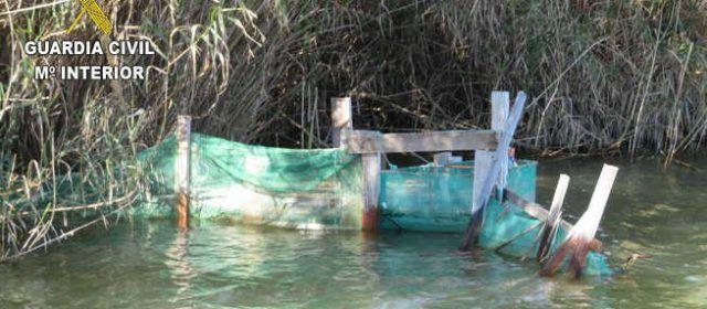 "La Guardia Civil interviene cuatro ""Bussons"" calados ilegalmente en la desembocadura de l'Ebre"