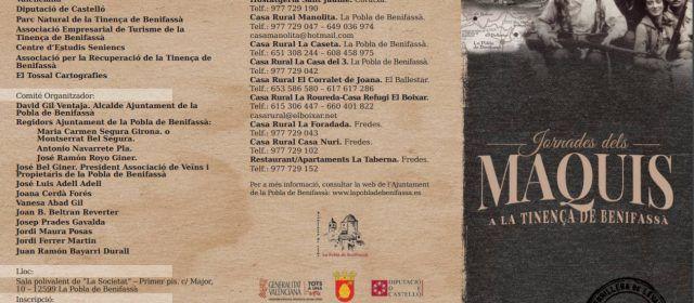 Les Jornades del Maquis a la Tinença de Benifassà omplin les places disponibles