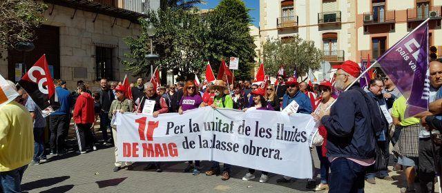 Manifestació comarcal a Vinaròs pel Dia del Treball