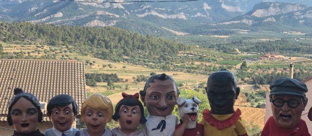 Trobada de gegants a Horta de Sant Joan amb participació vinarossenca