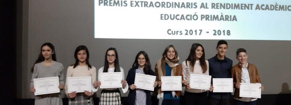 Premis extraordinaris en Educació Primària per a estudiants de Vinaròs