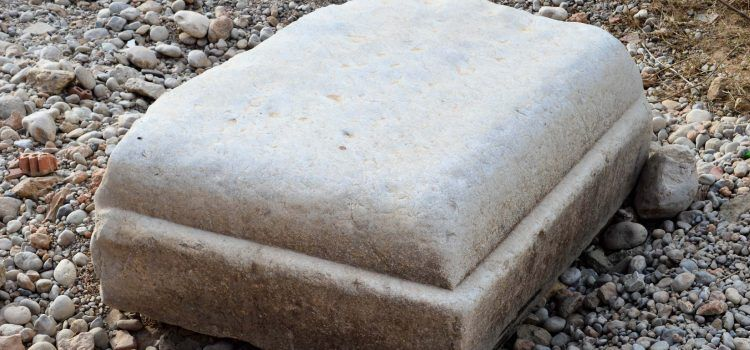 Reapareixen fragments de l'antic pont del Cervol a Vinaròs