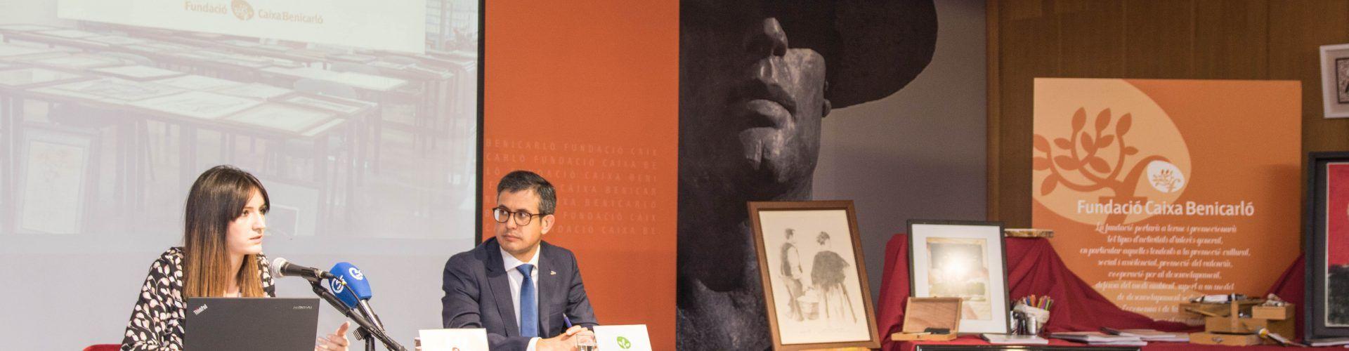 Presentació dels treballs del fons artístic de Caixa Benicarló