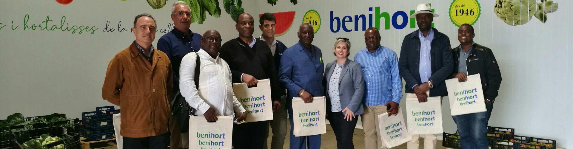 Una delegación presidencial del Congo visitó las instalaciones de Benihort