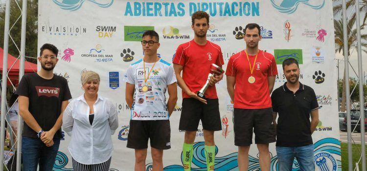 David Leon (CN Vinaròs) i Rosa Martinez (CN Vila-real), guanyadors de la XXIV Travessía a la Platja del Fortí