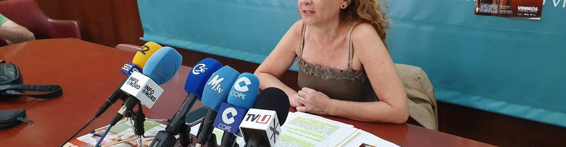 Roda de premsa de la regidora Anna Fibla