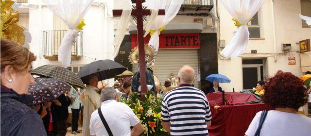 Continuen els actes litúrgics de les Quinquennals d´Ulldecona, malgrat la pluja
