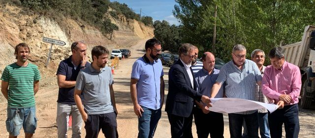 La Diputació amplia la carretera de la Mata a Olocau i millora un vial que uneix Castelló amb Teruel