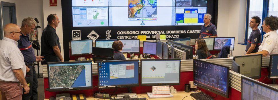 La Diputació de Castelló activa un dispositiu especial del Consorci de Bombers davant l'alerta taronja activada per al dimarts