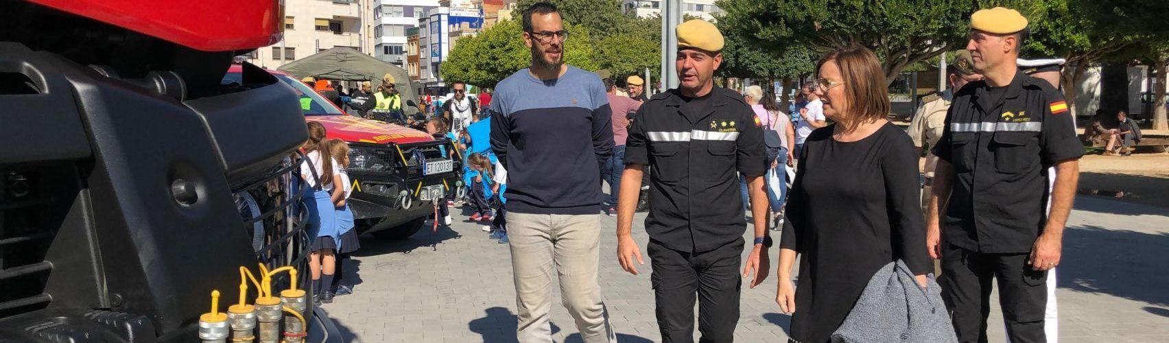 Benicarló acull diverses activitats de la Unitat Militar d'Emergències en el seu 14é aniversari