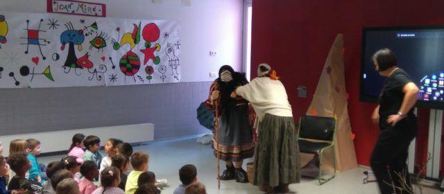 La castanyera visità el CEIP Assumpció de Vinaròs