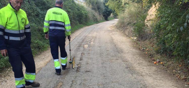 El Consell Comarcal del Baix Ebre millora el ferm de la Via Verda entre Xerta i Tortosa