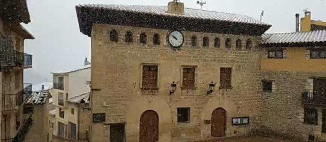 La primera nevadeta de la temporada a Els Ports
