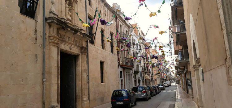 Inici de la nova zona de vianants al carrer Major d'Ulldecona