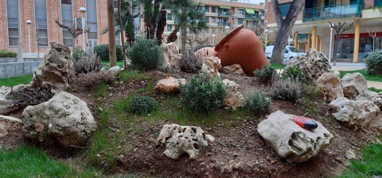 Finalitzen els treballs de regeneració del jardí de l'Auditori Pedro Mercader de Benicarló