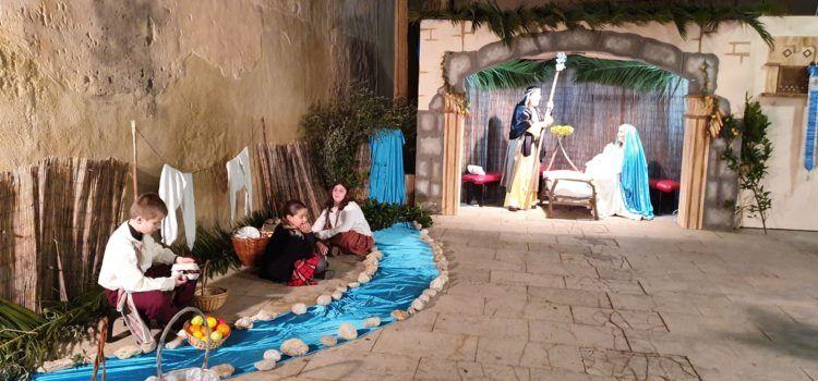 Nit de Nadal amb el betlem de les Camaraes a Vinaròs