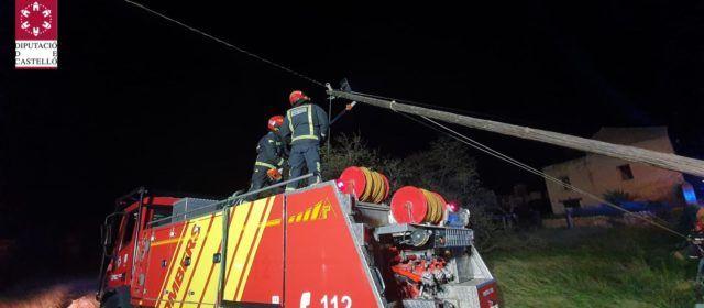 Diversas actuaciones de los bomberos por el viento