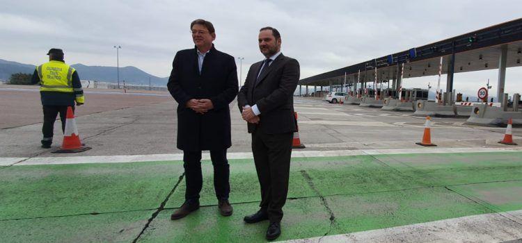 Ximo Puig asegura que se seguirá trabajando con el Ministerio para ampliar y mejorar los enlaces de la AP-7