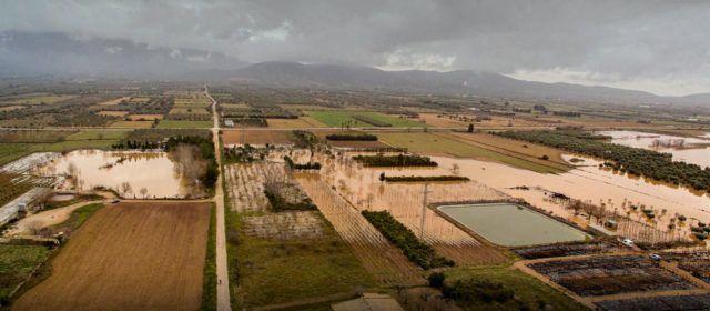 """La inundació de la Foia d'Ulldecona, després de """"Gloria"""", a vista de """"Pepo Dron"""""""