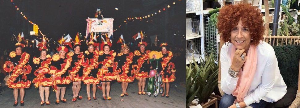 Les agüeles, Carnestoltes d'Or y Àngela Albiol, de Puro Teatro, pregonera del Carnaval de Vinaròs 2020