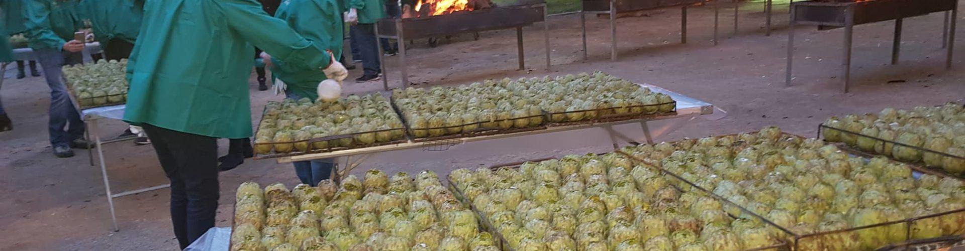 Torrada de dos mil quilos de carxofes a Benicarló