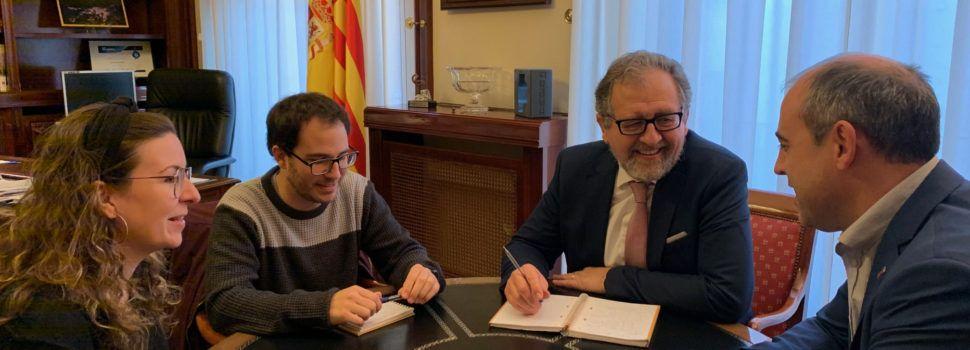 El president de la Diputació analitza amb l'alcalde de Villores les millores del Pla 135 i el Fons de Cooperació per a 2020