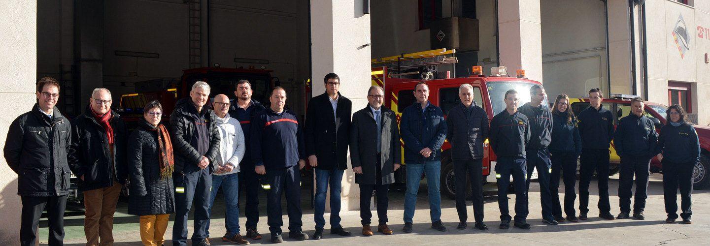 El President de la Diputació visita a Morella el Parc de Bombers dels Ports