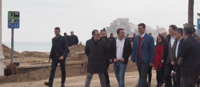 El alcalde de Peñíscola pide a Pedro Sánchez ayudas de emergencia para recuperar el litoral