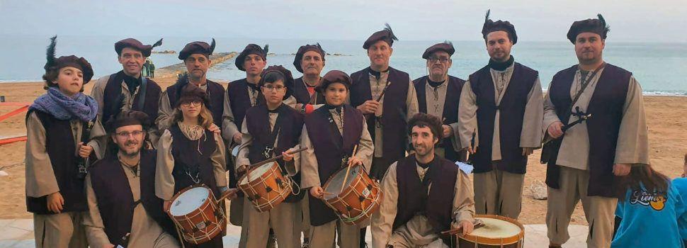 Especial participació de la Colla de Dolçaina i Tabal de Vinaròs en l'arribada de Carnestoltes
