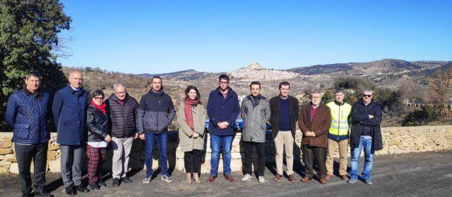 Finalitzen les obres de la carretera de Morella a Ares