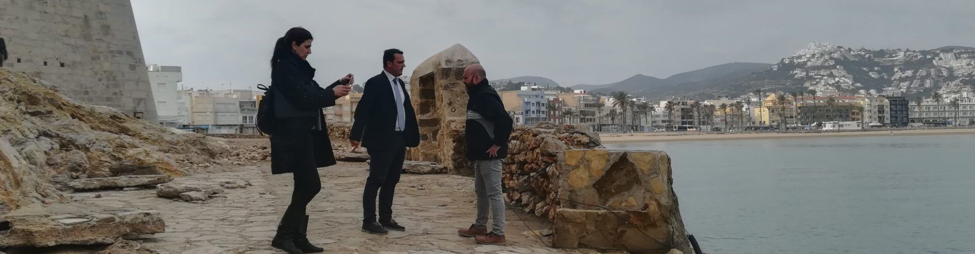 L'Ajuntament de Peníscola sol·licita la col·laboració de la Generalitat en la reparació de la zona de la Porteta
