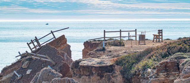 La mar esgarra un altre tros de Sòl de Riu a Vinaròs