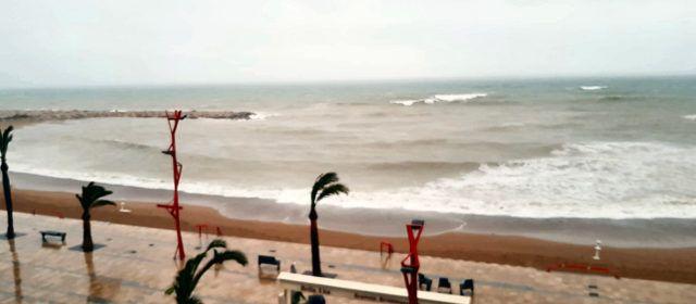 DANA amb poca pluja però temporal marítim a Vinaròs