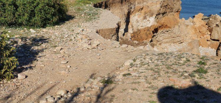 Els tècnics volen documentar el jaciment de Sòl de Riu de Vinaròs, en perill de sofrir nous despreniments