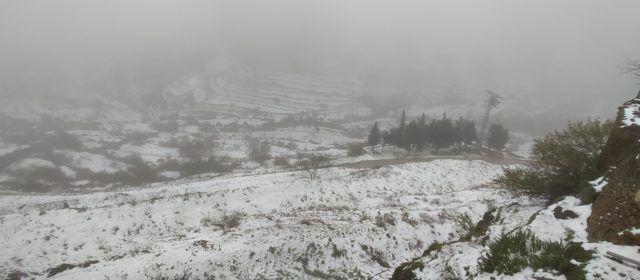 Neu primaveral a Castellfort