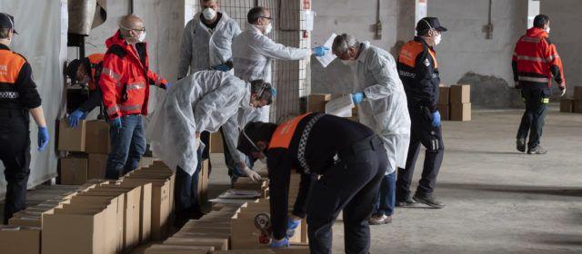 La Diputació de Castelló reparteix material sanitari pel coronavirus per als municipis
