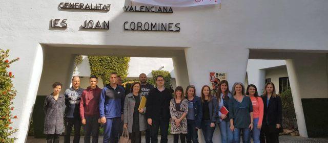 Visita del Director General d'Infraestructures a l'IES Joan Coromines de Benicarló