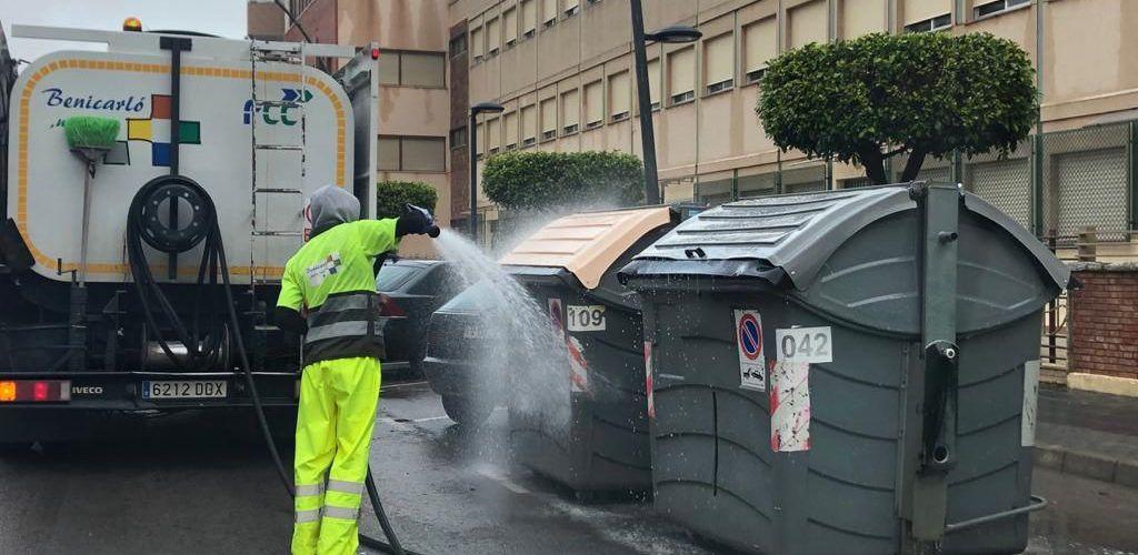 L'Ajuntament de Benicarló activa un protocol de neteja i manteniment dels contenidors pel coronavirus