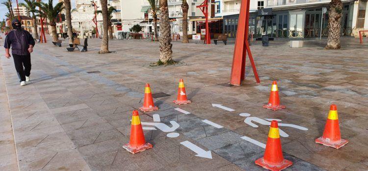 Fotos: Passejar i córrer respectant les indicacions a Vinaròs