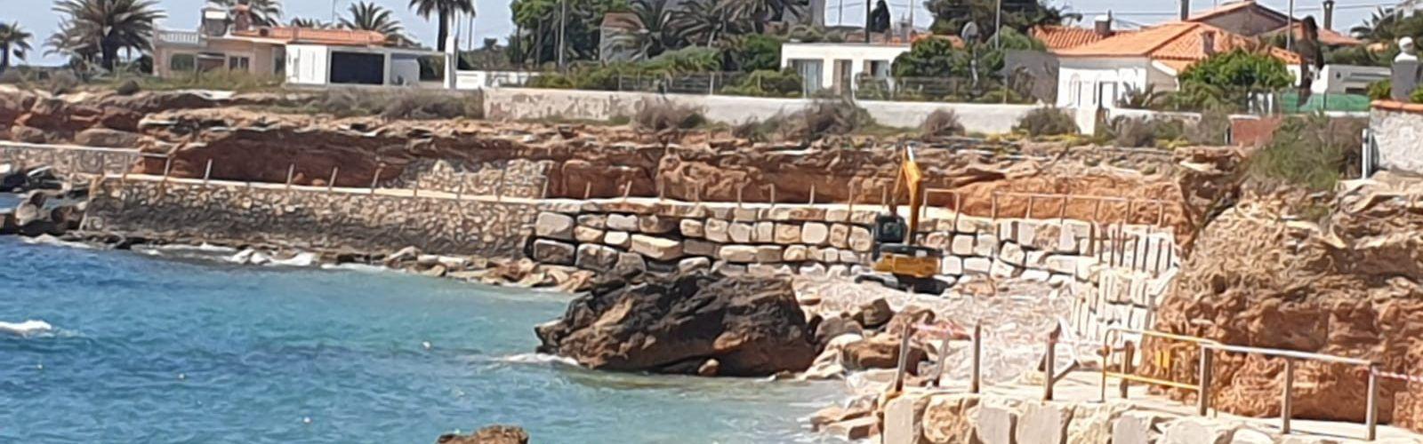 Costes i l'Ajuntament de Vinaròs avancen amb les tasques d'adequació del litoral de la Costa Nord