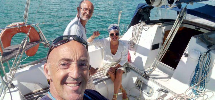 Primer dia de navegació esportiva a Vinaròs després de 60 dies amarrats pel coronavirus